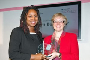 Dawn Butler (left) presented with award for MP of the Year 2009