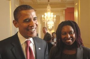 Dawn Butler MP with President Barack Obama