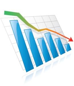 Down-graph blue