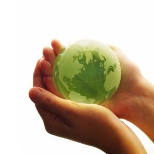 green world in hands