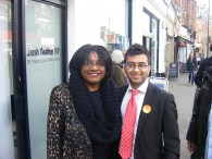 Cllr Hirani with Shadow Minister for Public Health Diane Abbott MP