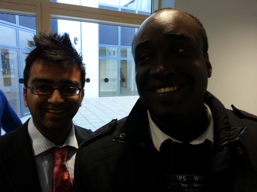 Cllr Krupesh Hirani with Adrian Simms at the New John Billam Centre