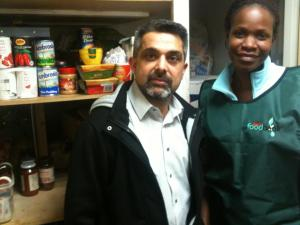 Councillor Muhammed Butt at the Brent Food Bank
