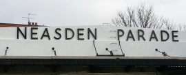 Neasden Parage sign