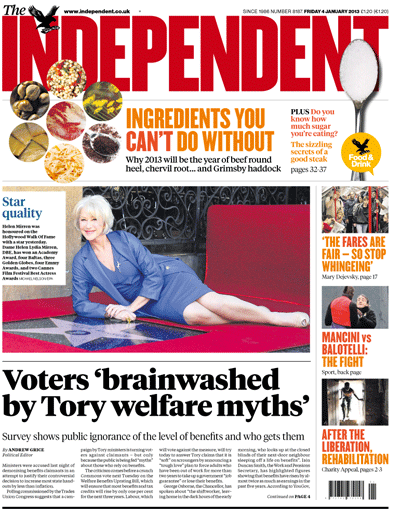 independent front page 4012012
