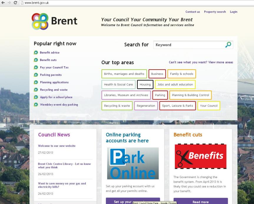 council webpage new look feb 2013