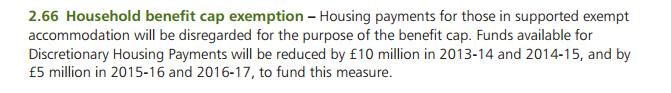 DHP Cut in 2012 Autumn Statement