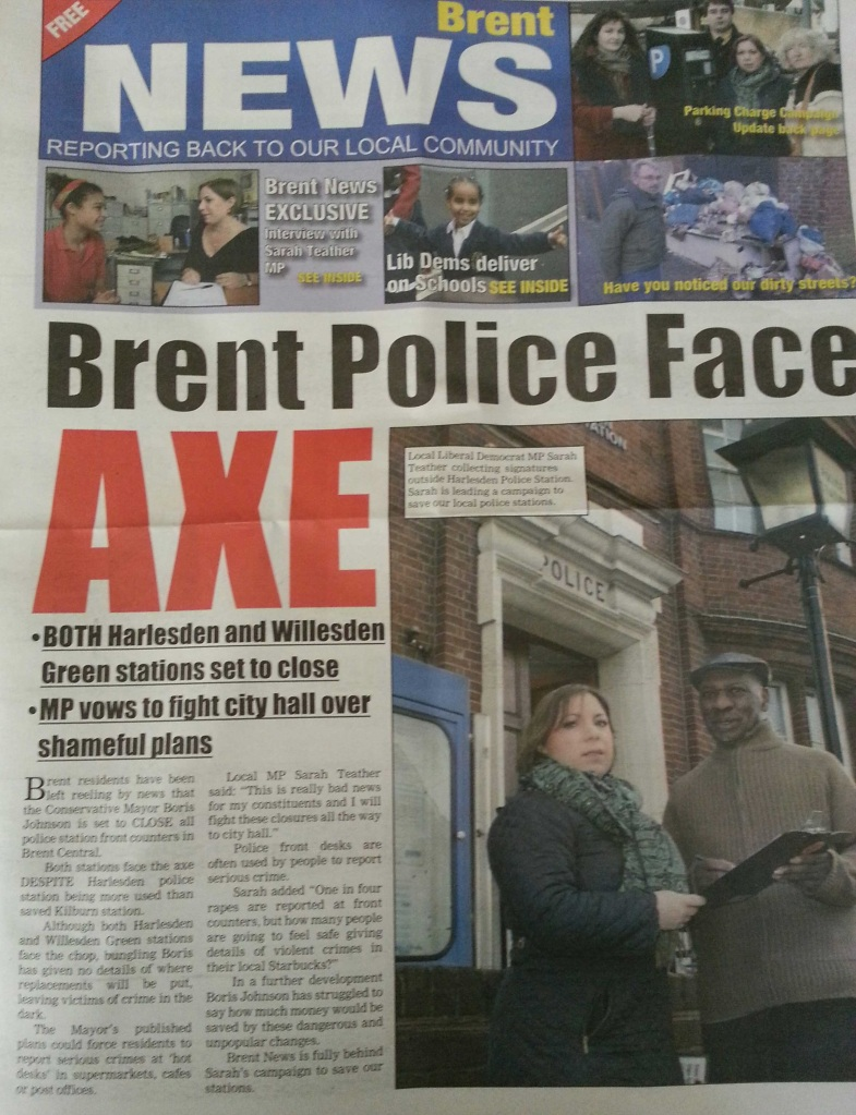 Teather Brent News April 2013