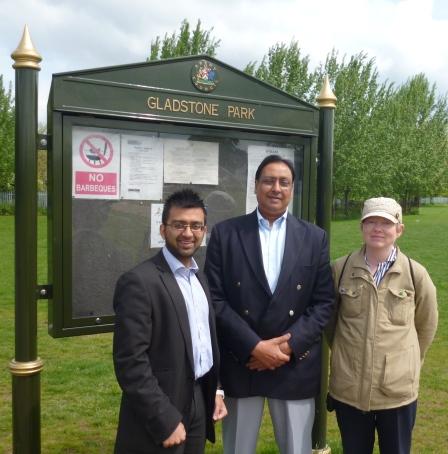 At Gladstone Park notice board