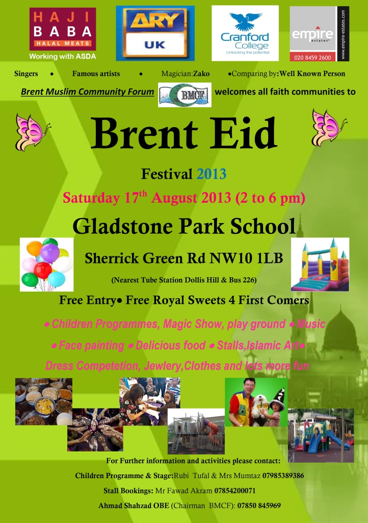 Brent Eid Festival Poster Final 2013 no 3