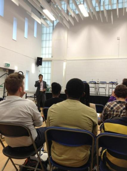 Speaking at Youth Centre