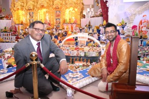 With Navin Shah at Kingsbury Temple