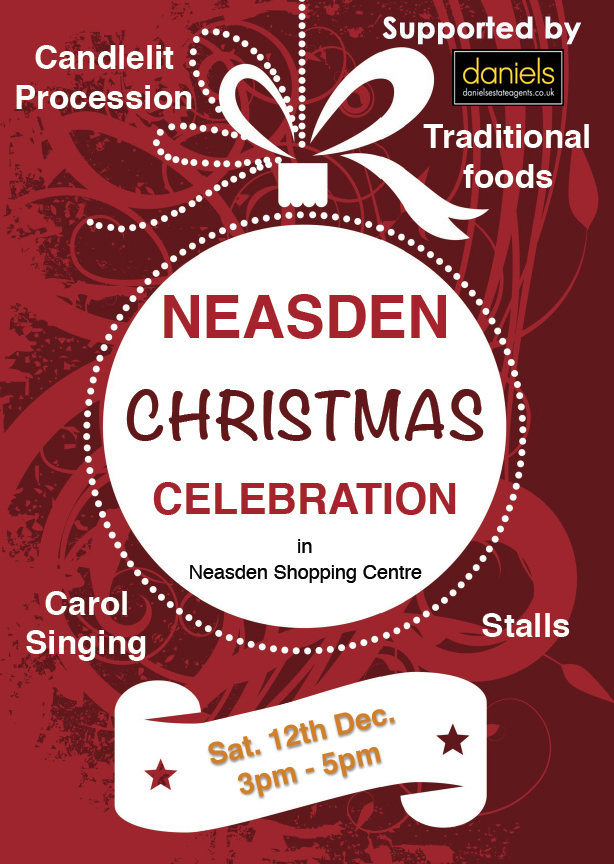Christmas in Neasden – Saturday 12th December 3pm to5pm