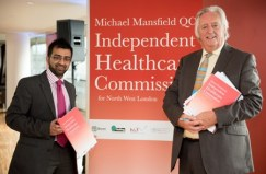 Cllr Krupesh Hirani with Michael Mansfield QC