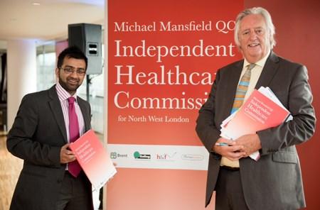 Cllr Krupesh Hirani with Michael Mansfield QC