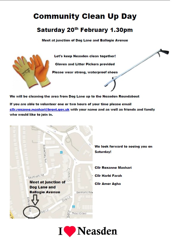 Clean up day Neasden