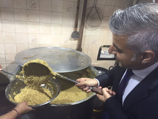 Sadiq Khan Willesden Temple