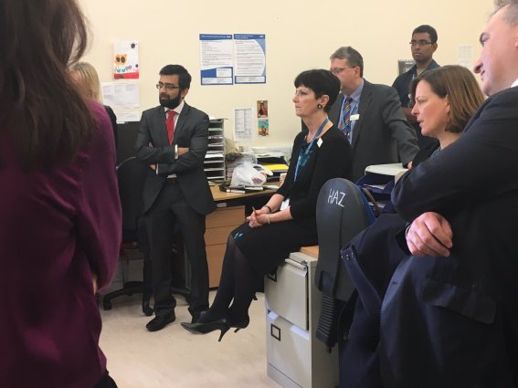 At Northwick Park Hospital with the STARRS team