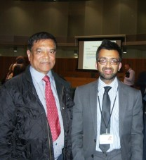 With Dudden Hill Resident Mansingh Narrandes at NHS Meeting