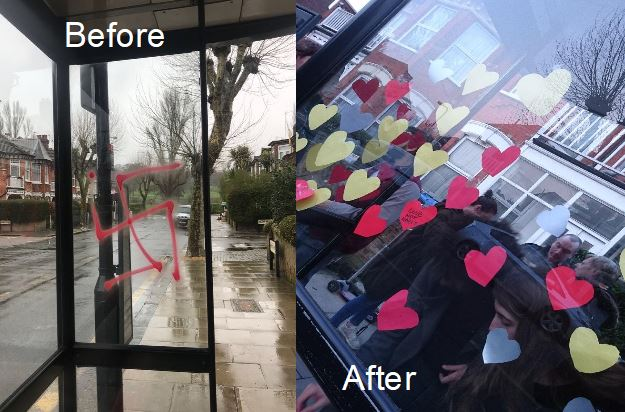 before after bus stop
